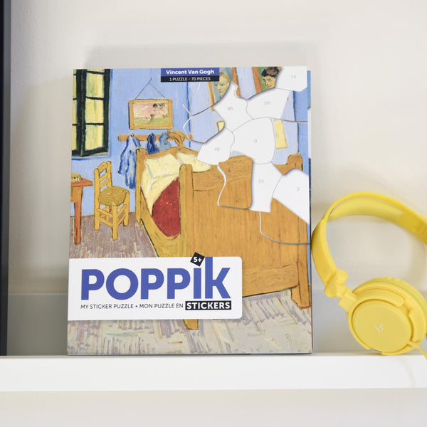 Poppik collection stickers puzzle art van gogh the bedroom