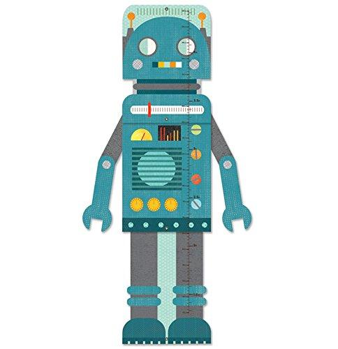 Petit Collage diy and games collection growth chart blue robot