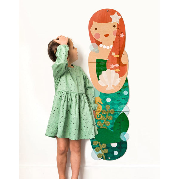 Petit Collage diy and games collection growth chart mermaid