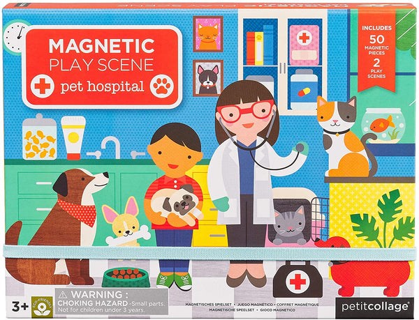 Petit Collage diy and games collection magnetic play set pet hospital