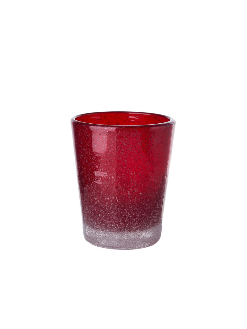 Pols Potten glassware HE glass azure red