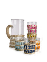 Pols Potten glassware jug with reed