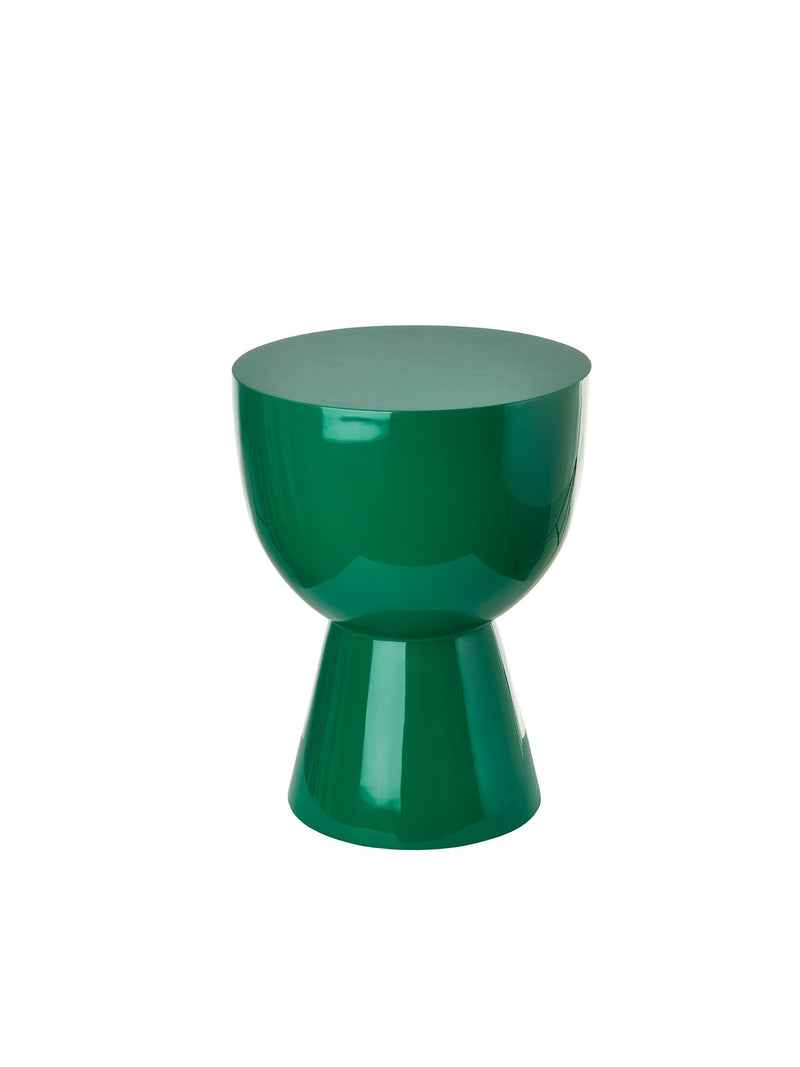 Pols Potten iconic lacquered tam tam green stool