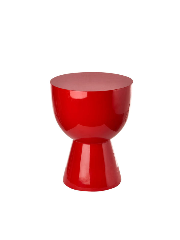 Pols Potten iconic lacquered tam tam red stool