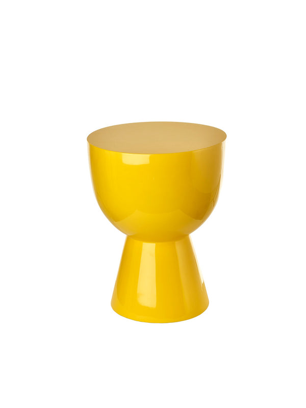Pols Potten iconic lacquered tam tam yellow stool