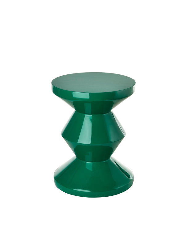 Pols Potten iconic lacquered zig zag emerald green stool
