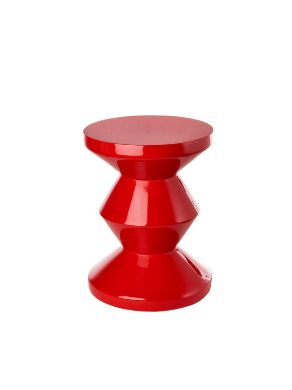 Pols Potten iconic lacquered zig zag red stool
