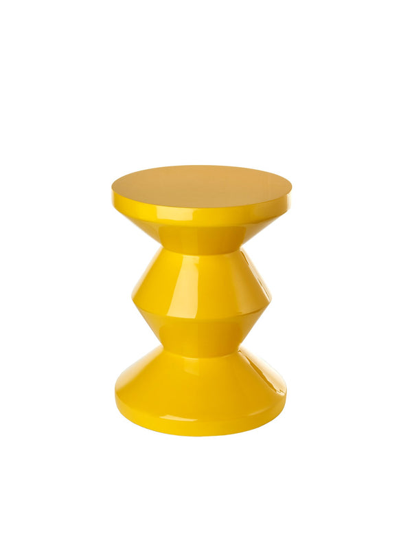 Pols Potten iconic lacquered zig zag yellow stool