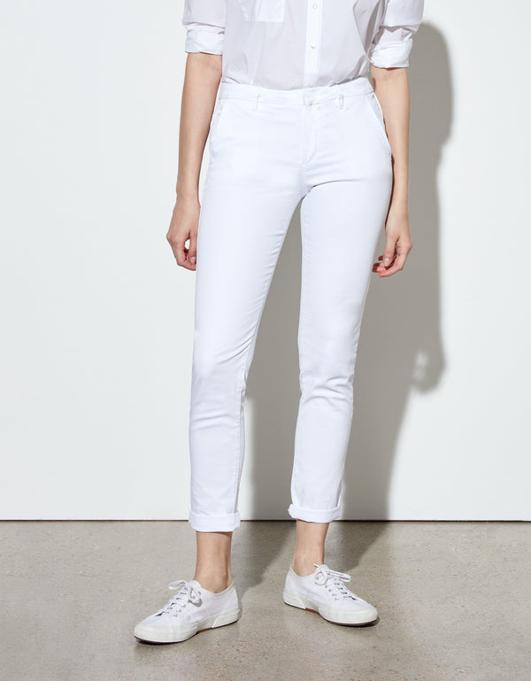 Chinos Sandy White