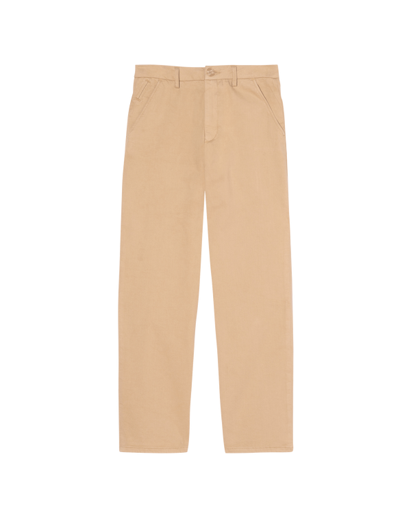 Chinos Sandy High Waist Cropped Beige REIKO
