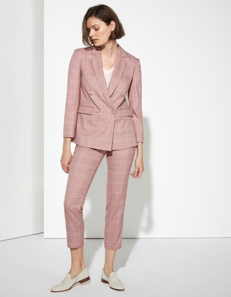 Blazer Jacket Pink Check Barbara