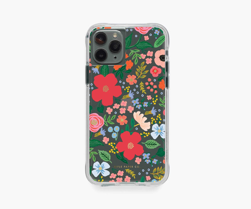 Rifle Paper Co. Clear iPhone Case Wild Rose