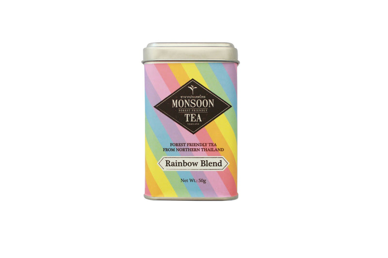Rainbow Blend Tea Monsoon Tea Tin Can