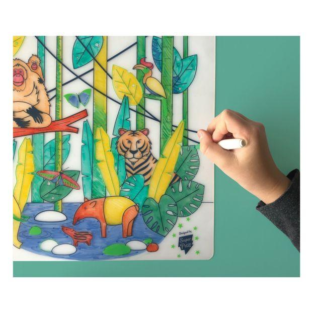 Super Petit Kids collection placemats,  Jungle Wildlife of South East Asia Jungle