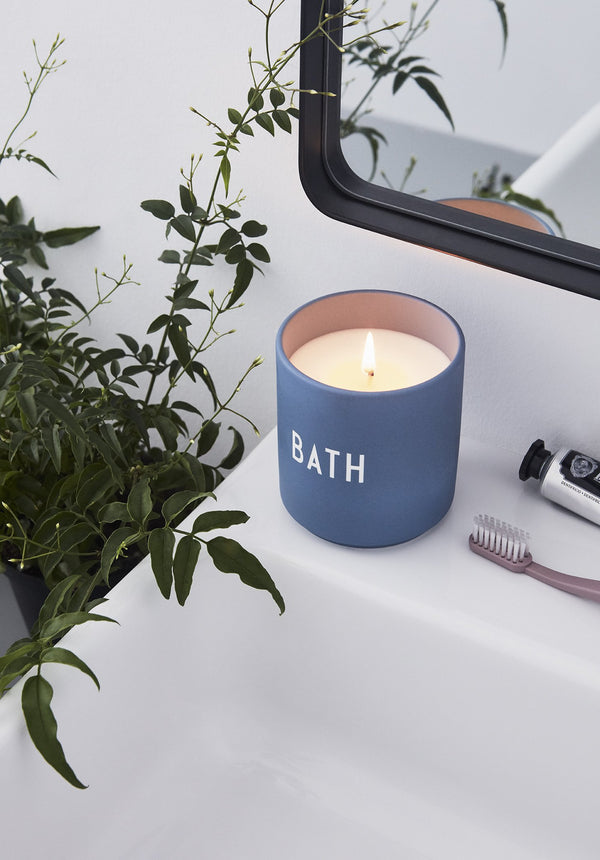 Design Letters Scented Candle BATH, Large