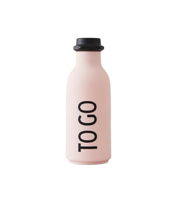 Design Letters TO GO Drinking Bottle (Pink)