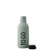 Design Letters TO GO Drinking Bottle (Soft green)