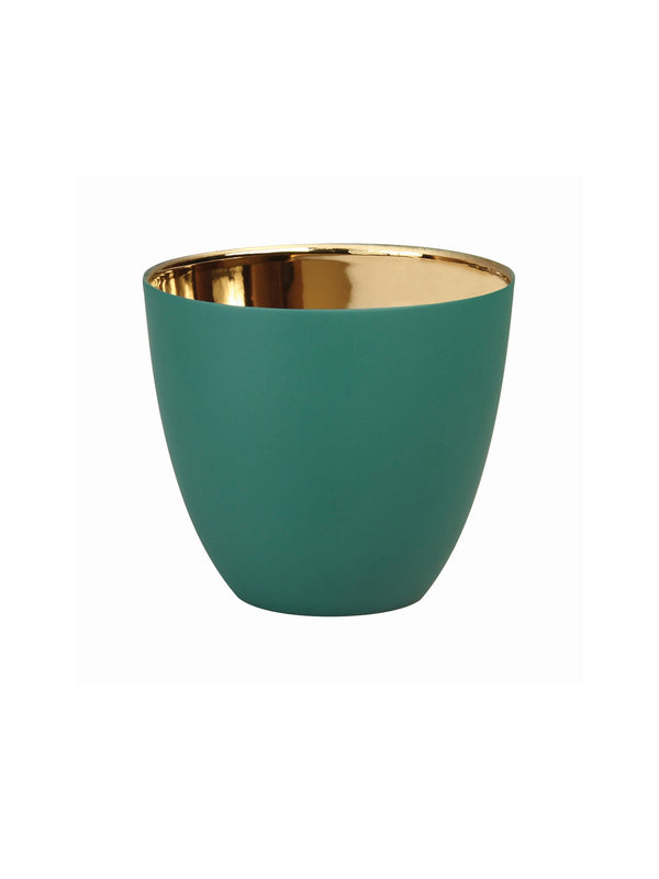 Tealight Holder &Klevering summer gold green large