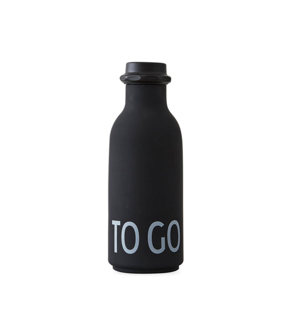 Design Letters To Go Drinking Bottle (Black)