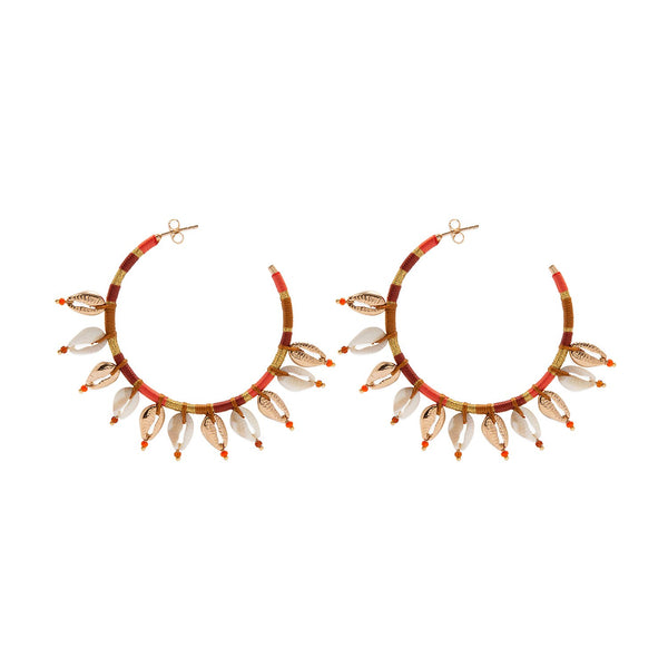 Ukulele large hoops earrings Hipanema