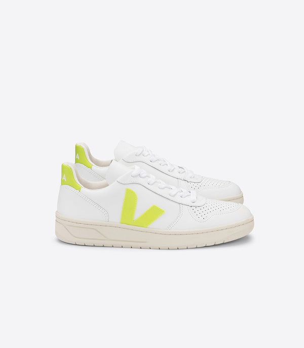 Veja exclusive collection sneakers v-10 white yellow fluo
