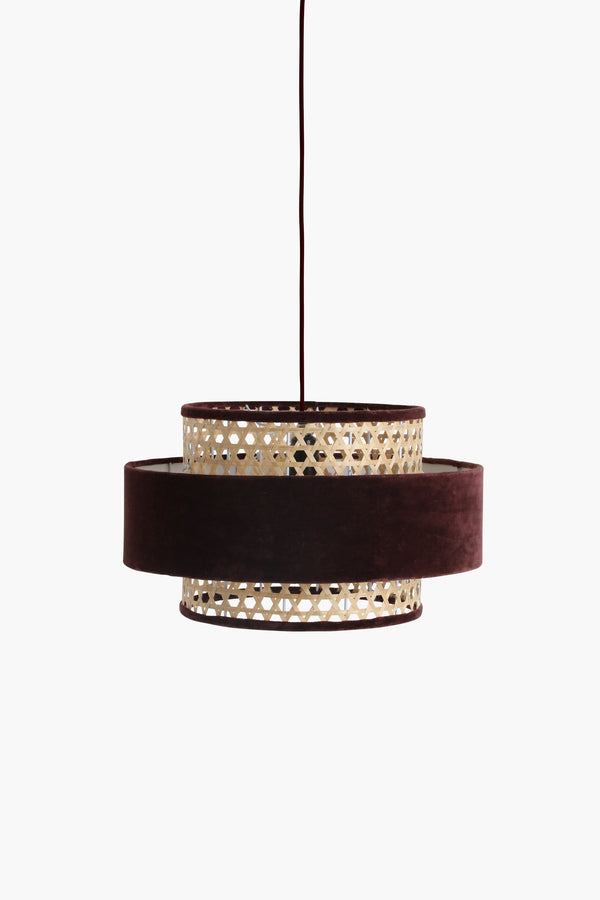 Raw Materials Velvet Lamp Medium - Burgundy