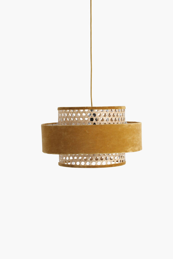 Raw Materials Velvet Lamp Medium - Mustard