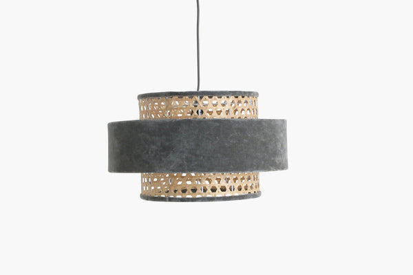 Raw Materials Velvet Lamp Medium - Silver Grey