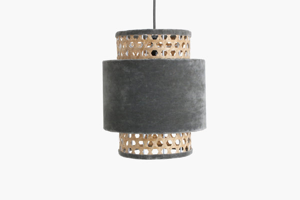 Raw Materials Velvet Lamp Small - Silver Grey