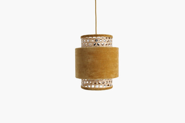 Raw Materials Velvet Lamp Small - Mustard
