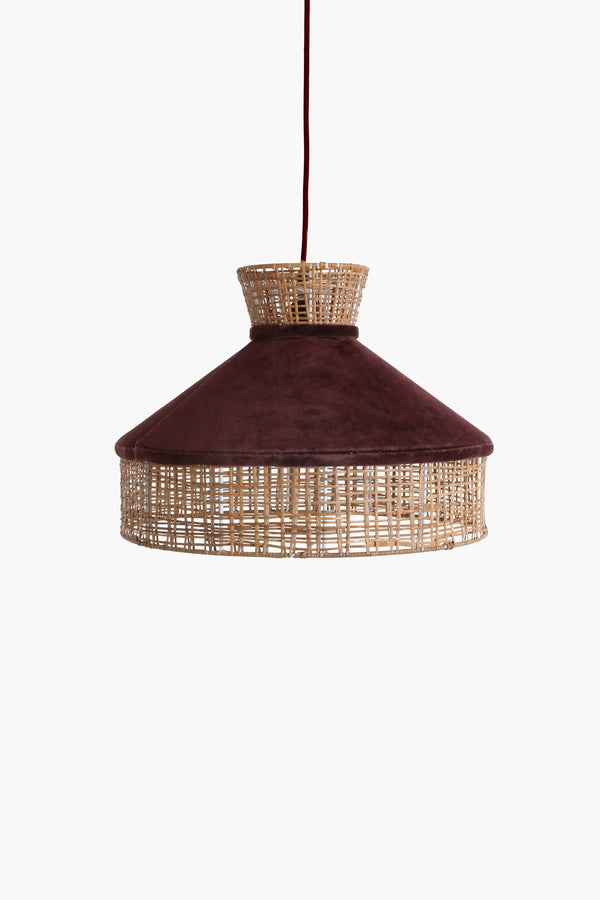 Raw Materials Velvet Lamp Shade - Burgundy
