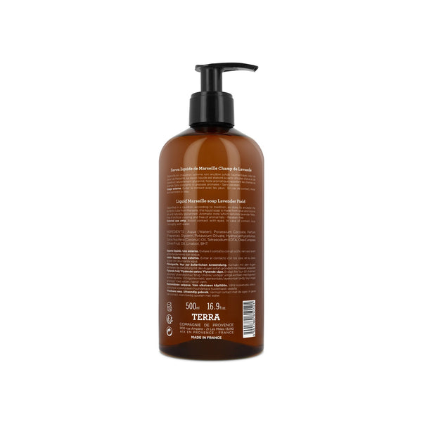 Terra Liquid Marseille Soap Terra - Lavender Field - 500ml
