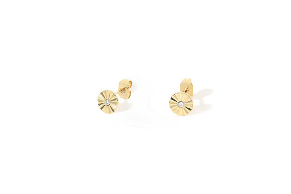 Stud Earrings Dahlia - Cristal