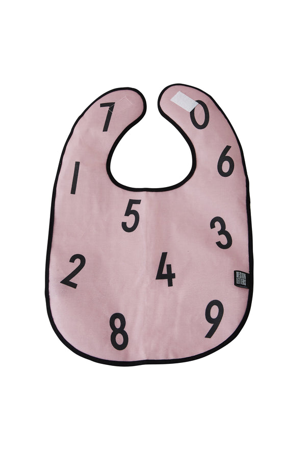 Design Letters Bib The Numbers - PINK