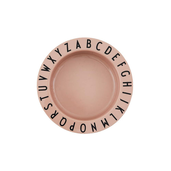 Design Letters Eat & Learn deep plate tritan - NUDE