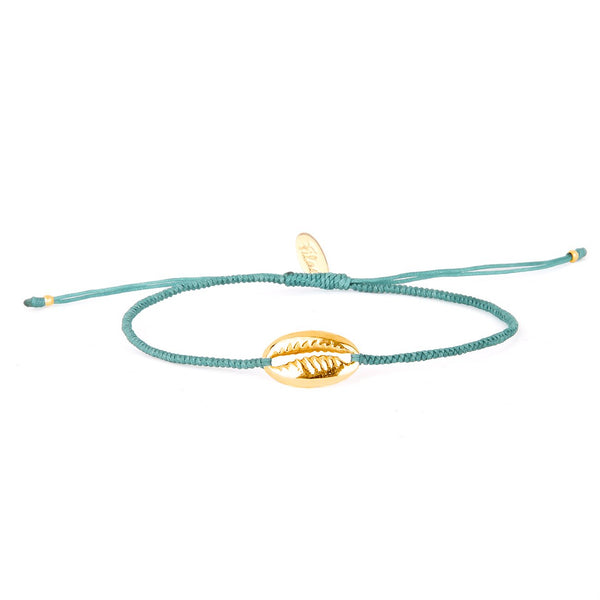 Nosy Be Shell Charm Bracelet - Lagon Blue