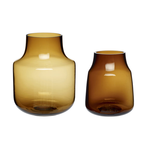 HUBSCH Set of 2 brown vase