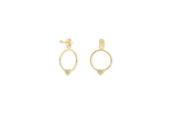 Hoop Ear Cuffs Isis - Pacific Opal