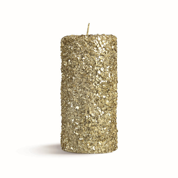 &Klevering Candle pillar gold large
