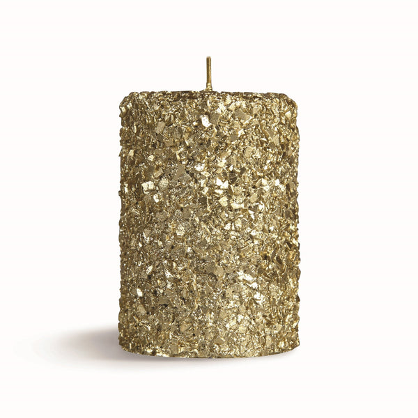 &Klevering Candle pillar gold small