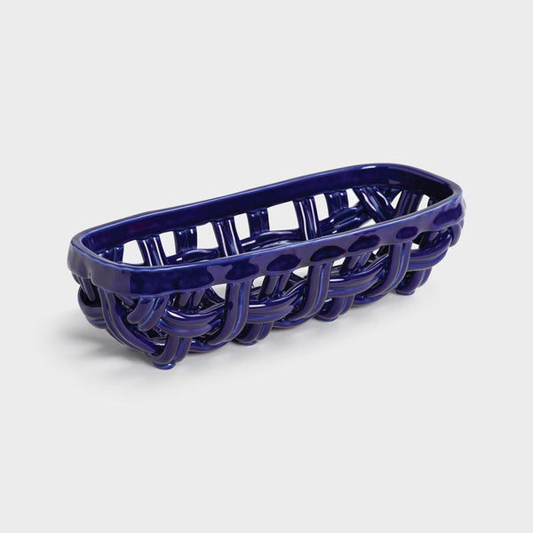 &Klevering Basket baguette blue