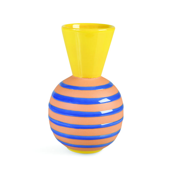 &Klevering Vase terracotta stripes