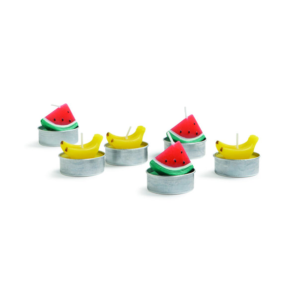 &Klevering Candle fruit set of 6