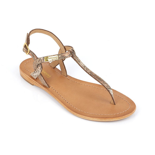 Billy sandals - lezard/bronze
