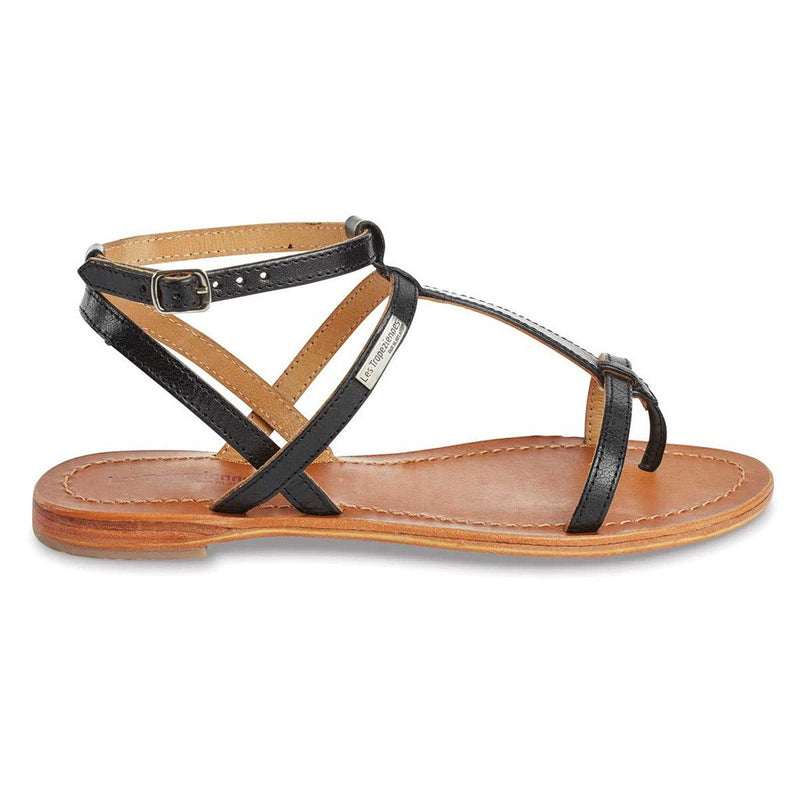 Hilan sandals - black shiny