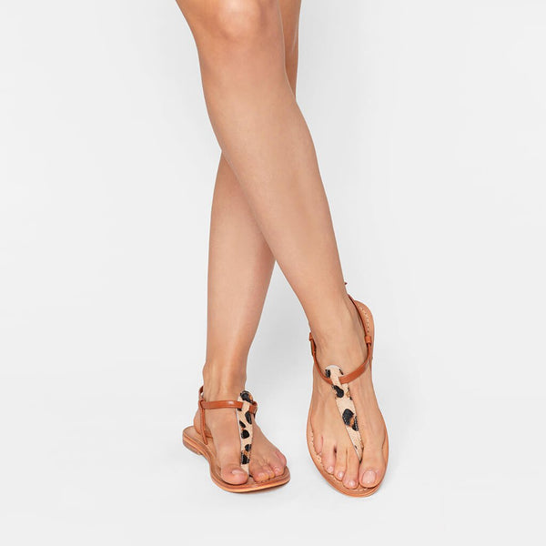 Narvil sandals - leopard/tan