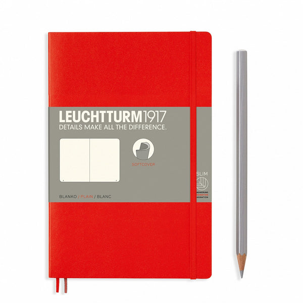 Leuchtturm1917 Notebook Paperback B6+ Softcover Red