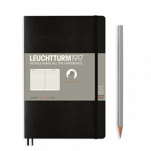 Notebook Paperback (B6+) Softcover - Black