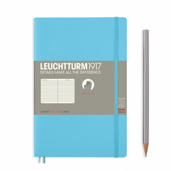 Notebook Paperback (B6+) Softcover - Ice Blue