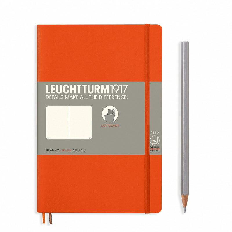 Leuchtturm1917 Notebook Paperback B6+ Softcover Orange